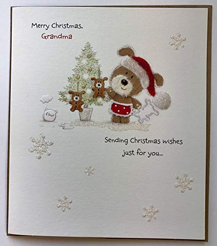 Feliz Navidad abuela, (Guau) Tarjeta de felicitaciones de Navidad ⭐