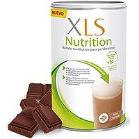 XLS Nutrition Chocolate + Shaker de regalo - Batido sustitutivo de comidas para perder peso - Ingredientes de origen natural - contiene todas las vitaminas del grupo B - Sin gluten - 400 g