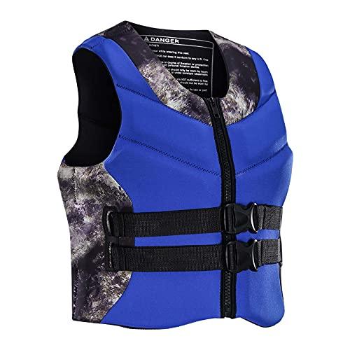 Sunangle Chaleco Salvavidas Adultos, Ayuda a la flotabilidad Neopreno Natación Chaleco Salvavidas Chaleco Profesión Kayak Tabla de Remo Chaleco Salvavidas,Azul,XL