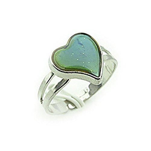 LEORX Anello dito regolabile colore cambiamento emozione sensazione umore anello - a forma di cuore