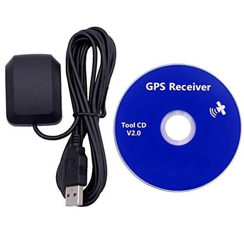 GPS USB, Dualband, Glonass Active Receiver Antenne, wasserdichtes Gerät, funktioniert mit Laptop, Outdoor Navigator, Auto Tracker, Streets Navigationssysteme, Windows kompatibel, 27 db Gewinn …