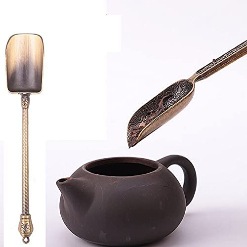 JHMay - Tea Scoops 1pc Chinese Cheap mail order sale sales Spoon Copper Spoons L Scoop