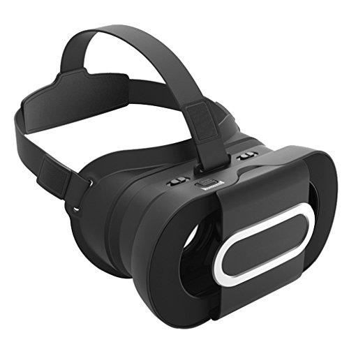 Kesilian Negro Realidad 96 ° AR Headset Aumentada Soporte Gafas para Google Cartón 2 Fit 4,5-6,0 Pulgadas Teléfonos Móviles