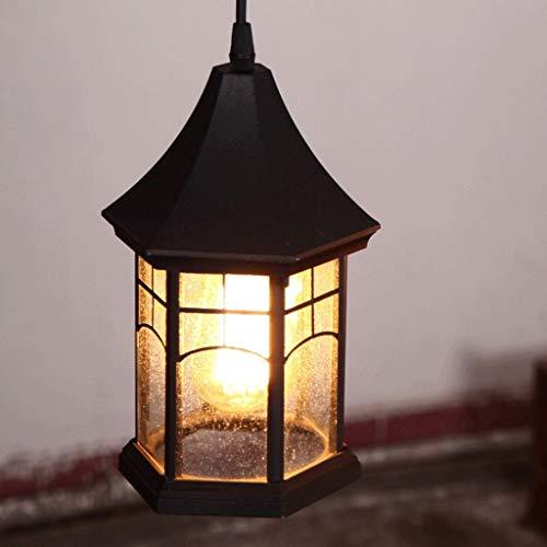 Chandelier Agriturismo Creativo Retro Loft Lanterna di vetro Illuminazione a sospensione E27 Edison Alluminio nero Lampade a sospensione a sospensione vintage Cucina Isola Luce Caffè Bar Lampadario Ca
