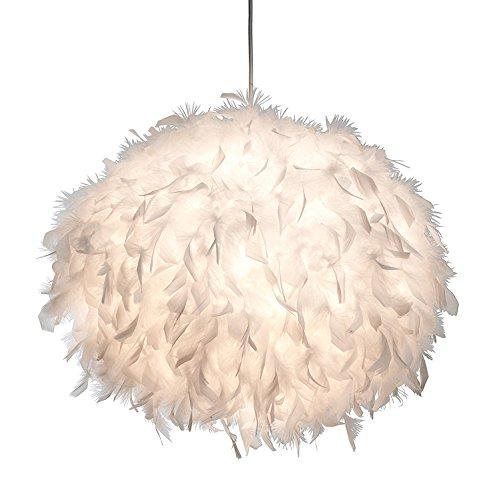 XXL Led Pendellampe Ducky Ø 55 cm m. Federn, Pendelleuchte Wohnzimmer Schlafzimmer, Federlampe Design,Lampe, Leuchte, Deckenlampe inkl. 9W LED !
