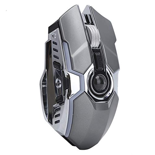 long battery life Adjustable DPI Levels USB Mouse LED Wireless Mouse, for PC Desktops Computer, Laptops, Windows(G80 gray mouse)