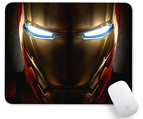 Iron Man Helmet Heroes Mouse Pad Non Slip Rubber Mousepad Gaming Office Rectangle Mouse Mat