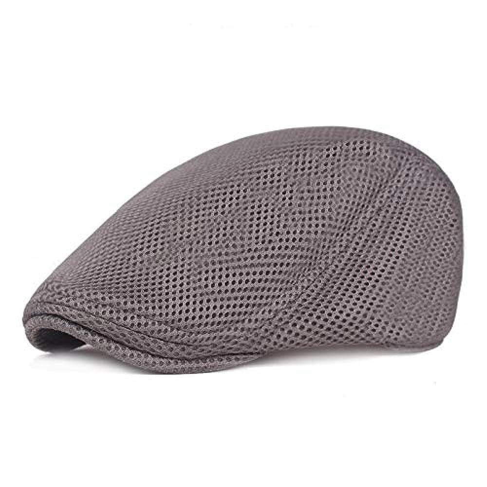 にはまってお別れ遠洋のメッシュ ハンチング キャップ 夏用 綿 ベレー帽 調整可能ワークキャップ アウトドアキャップ 男女兼用