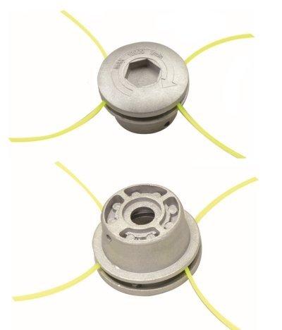 GrecoShop Testina Universale in Alluminio per decespugliatore con sgancio rapido multifilo Nylon
