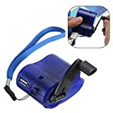 Lucky Direct Hand-cranked Charger Other Outdoor Equipment Generator Outdoor Emergency Survival Gear Hand Crank Generator USB Mobile Phone Charger - Blue