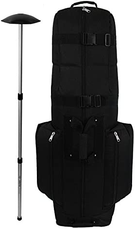 CaddyDaddy Golf CDX 10 Golf Bag Travel Cover with North Pole Club Protector Black product image