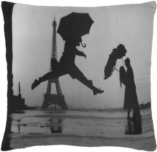 rempli dansant Paris France Tour Eiffel Noir Coussin 18