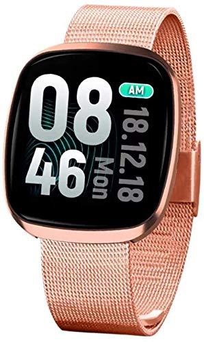 Smart Watch IP68 - Monitor de actividad impermeable con monitor de frecuencia cardíaca, monitor de presión arterial, pantalla completa, reloj deportivo para mujeres y hombres.