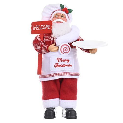 SoFull Decoração de Natal, adorável decoração para festa de Natal com boneco de Papai Noel, boneco para decoração ou presente - com lâmpada de óleo