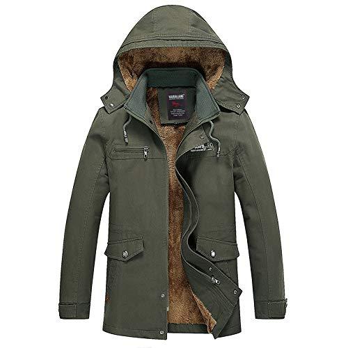 SHUO Large Size Herren Baumwoll-Multitasche Plus samtgepolsterter Baumwoll-Kapuzenanzug, stilvolles Aussehen, große Auswahl an Größen, bringen Wärme in Ihren Winter XL