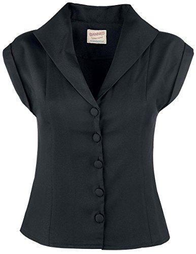 Banned Bluse Dream Master Shirt 1032 (X-Large, Schwarz)
