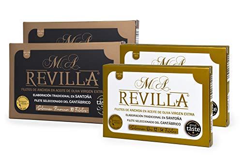 Anchoas REVILLA, anchoas de Santoña en aceite de oliva. PACK: 2 hansas...