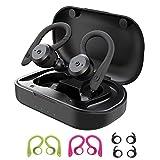 SoundGenie V7 Wireless Sports Earphones, UPGRADED Over Ear IPX7,Bluetooth 5.0 26H Playtime,In Ear