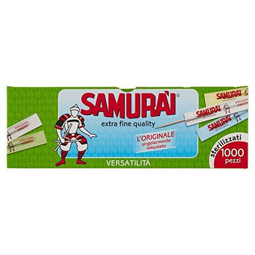 Samurai 341CB Zahnstocher einzeln Einzeln Verpackt, Birke, grün, 6.6x 0.2x 0.2cm, 1000Stück