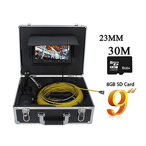 SSeir Pipeline Industrie Endoskop, Inspektionskamera 9In HD Videoaufnahme IP68 Wasserdicht Infrarot Nachtsicht Endoskop Für Industrie, Autoreparatur