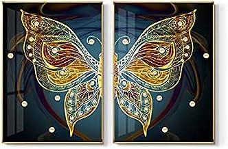 HEZHANG Nowoczesna restauracja dekoracja obraz salon tło dekoracja ścienna mural ganek wiszący obraz 2 ramki