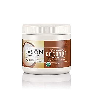 Jason Organic Unrefined Oil, Smoothing Coconut, 15 Oz