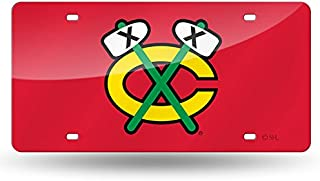 Rico Industries NHL Unisex-Adult NHL Laser Inlaid Metal License Plate Tag