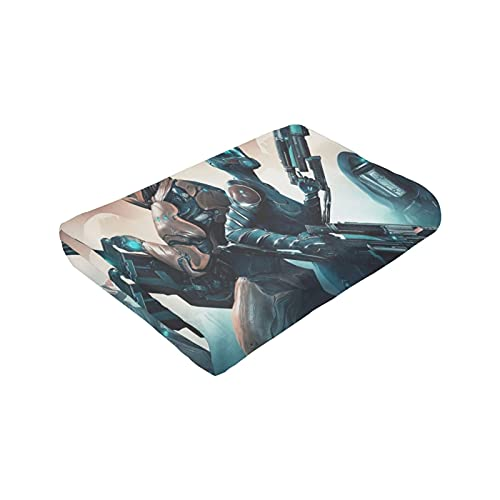 St-ar Warframe超ソフトマイクロフリースブランケット,ソファ/ソファベッドに最適厚く、暖かく、ふわふわの静電気防止軽量(50 x40インチ)