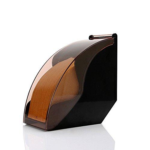 Soriace® kaffee Filtertütenhalter, Acryl Kaffeefilter Halterung Lagerung Kaffeefilter Ständer mit Staubdichte Abdeckung Passend für Konische und Fächerförmige Kaffeefilterpapiere