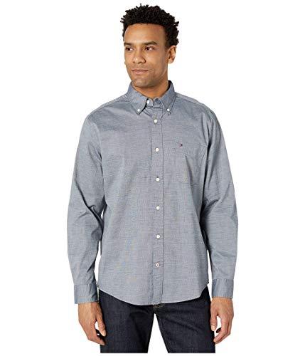 Tommy Hilfiger Camisa de Manga Larga con Botones para Hombre en Ajuste clásico