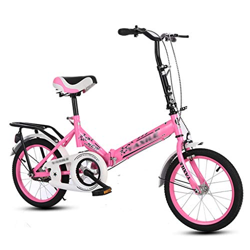 Folding Bicycle 20 Inch Single Speed Shock Absorber Bicycle Portable Lightweight Foldable Bike for Student Men Women - 4 Color