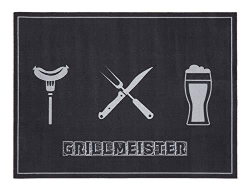 andiamo Grillmatte BBQ, robust, mehrer Grilldesigns & Größen Rechteck & Rund, Größe:90 x 120 cm, Farbe:Grillmeister