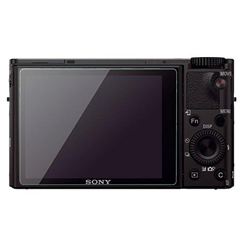 PhoneStar Panzerglasfolie passend für Sony Cyber-shot DSC-RX100 III Echt Glas Protector Bildschirm Screenprotector 9H Tempered Glass