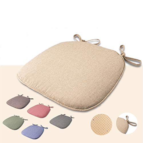 Yzzlh Waterproof Patio Chair Cushions with Seat Ties,Pads Cushion Pad Indoors Outdoors Water Resistant Material Kitchen Dining Living Room Patio Garden Office (Green)