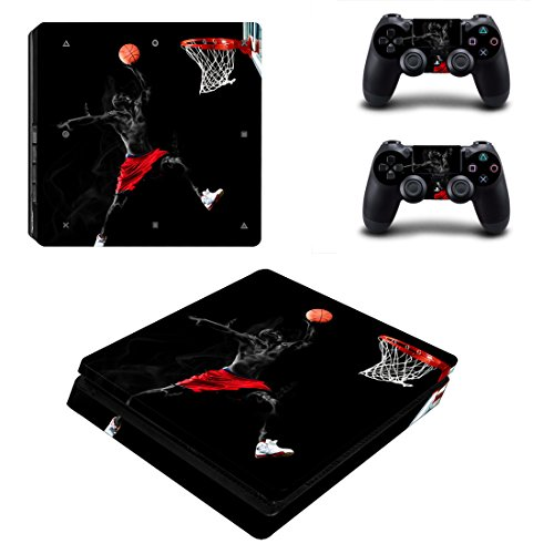 L'Amazo Best Sport Fans American Football Basketball Baseball PS4 Pro Designer Skin Game Console System p 2 Controller Decal Vinyl Protective Covers Stickers for Playstation 4 Pro (Master)