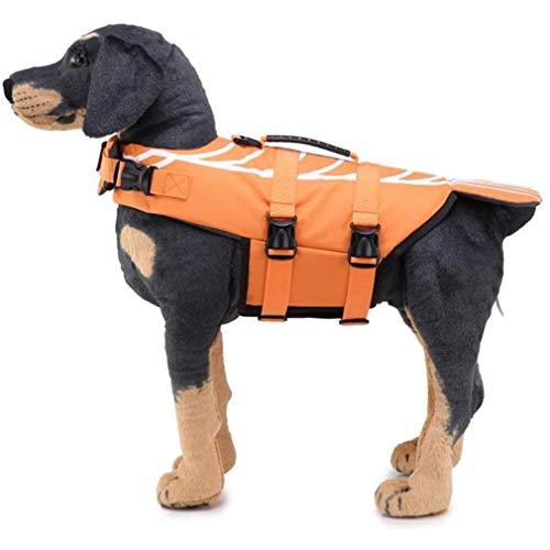 WWXXCC Hundeschwimmwesten Hunde Schnorchel Vest Schwimmen Schwimmweste-Hundeschwimmweste Verstellbare Schwimmweste für Hunde für Wassersport, Schwimmbad, Strand, Spielen im Freien,B,M