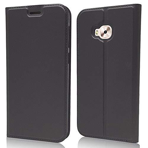 Sangrl Funda para ASUS Zenfone 4 Selfie Pro ZD552KL, Libro Cuero de la PU Leather Case Soporte Plegable Premium Flip Case para ASUS Zenfone 4 Selfie Pro ZD552KL - Negro