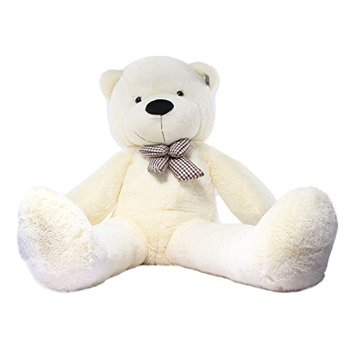 JOYFAY Orso Peluche Gigante XXL Pupazzi Giganti 160cm (Bianco)