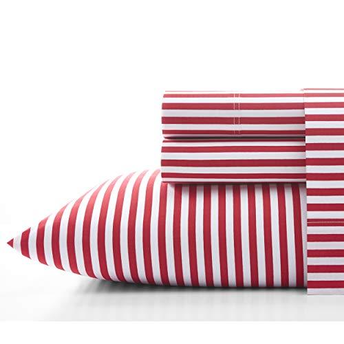 Marimekko AJO Cotton Red Sheet Set, King