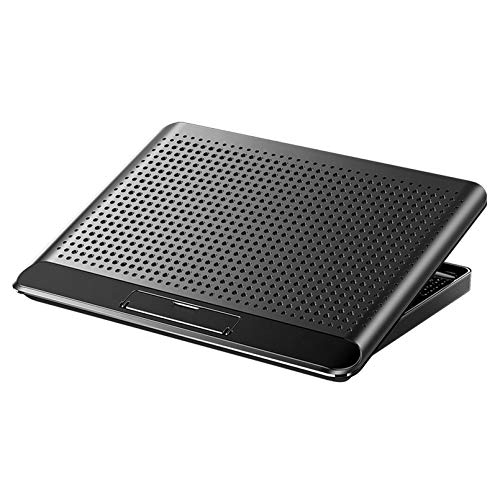 Cutfouwe Laptop cooler, note laptop stand PC cooler, strong silkworm, 160mm super large cooling fan USB port 2 mouth, air volume adjustment, 6-step angle adjustment, 17-inch type correspondence,Black