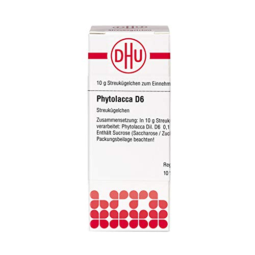 DHU Phytolacca D6 Streukügelchen, 10 g Globuli