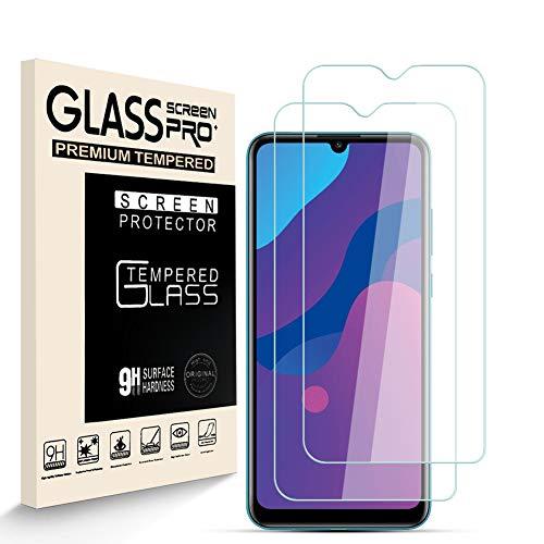 HJX Panzerglas Schutzfolie für Huawei Honor Play 9A, 9H-Härte Tempered Glass, Anti-Kratzer, Einfache Installation, Anti-Fingerabdruck Displayschutzfolie für Huawei Honor Play 9A [2 Stück]