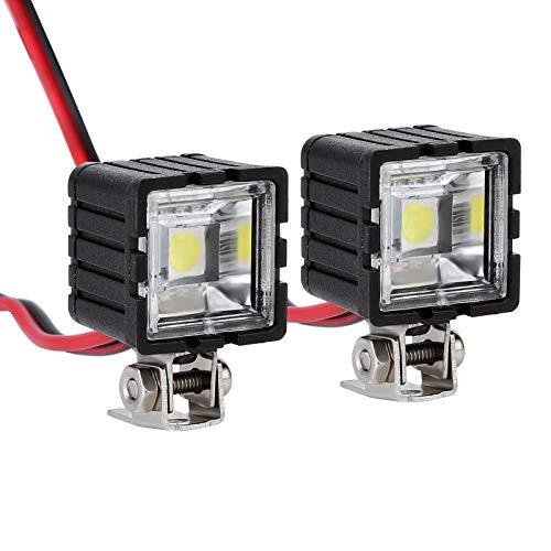 INJORA RC Scheinwerfer RC LED Beleuchtung RC Zubehör für 1:10 RC Crawler Axial Traxxas TRX4 TRX6 SCX10 90046 Wraith RR10 MST Redcat (Quadratisch)