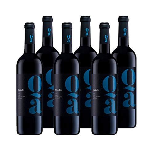 Vino tinto Quadis Joven de 75 cl - D.O. Tierra de Cadiz - Bodegas Barbadillo (Pack de 6 botellas)