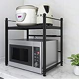 KQP Forno A Microonde Rack2 Tier Kitchen Shelf Microwave Oven Rack Adjustable Stand Condiment Storage ShelfPortaoggetti Multifunzionale Da Cucina