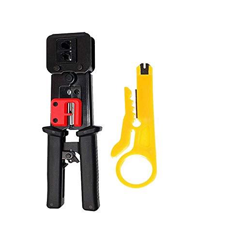 TAIWAIN Crimping Tool Kit for RJ11/RJ12/RJ45, Professional Computer...