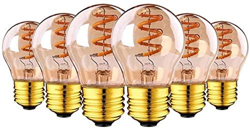 Bombilla Edison Vintage E27 de filamento G45 3 W LED Bombilla Flexible 2200K 220V Iluminación para Café Bar Hogar