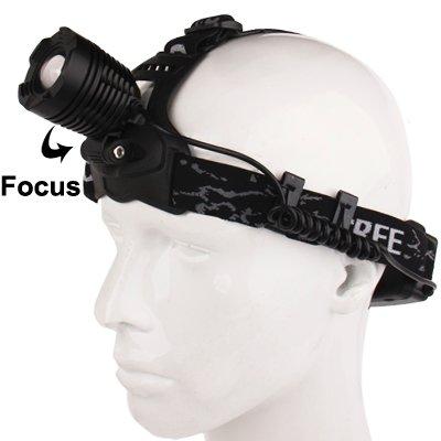 SureShop Headlamp Adjustable Headband CREE LED Focus Zoom Rechargeable Battery