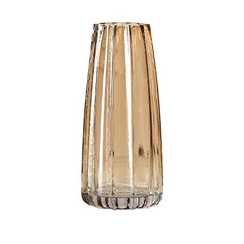KatoonX Glasvase, vertikale Streifen, für Heimdekoration, Braun