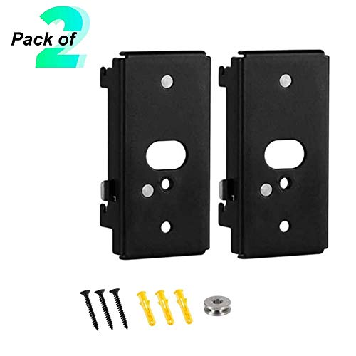Bedycoon 2 Pack Replacement Wall Mount Bracket Compatible with Bose SlideConnect WB-50 - Black (UFS-20), Lifestyle 525 535 III,Lifestyle 600,soundtouch 300 soundtouch 520,CineMate 520,Wall Bracket